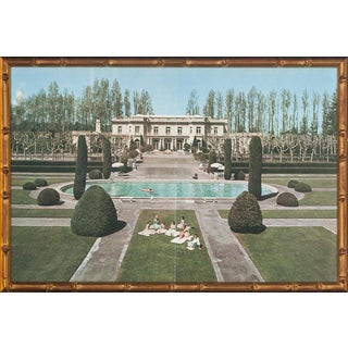 "Slim Aarons ""Pooling Around"" in Gilt Bamboo Frame"