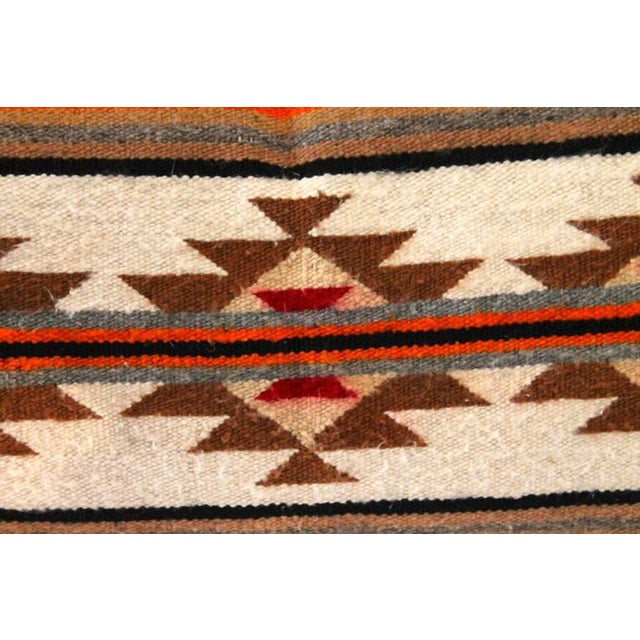 1930s Navajo Indian Weaving Geometric Bolster Pillow For Sale - Image 5 of 5