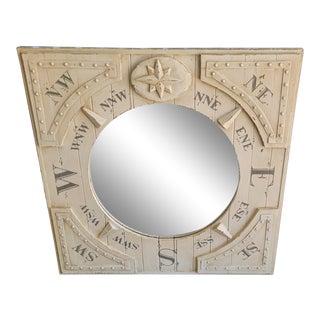 Contemporary Nautical Ships Compass Mirror For Sale