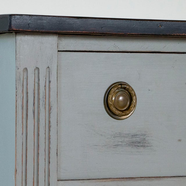 Paint 19th Century Antique Swedish Gustavian Nightstands-a Pair For Sale - Image 7 of 9