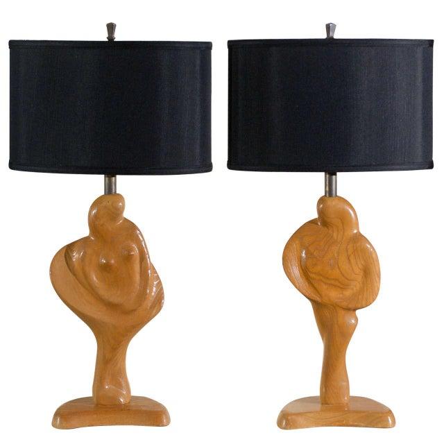 Fantastic Sculptural Pair of Heifetz Lamps For Sale - Image 10 of 10