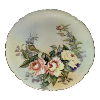 Early 20th Century J.P.L. Jean Pouyat Limoges France Hand Painted Plate For Sale