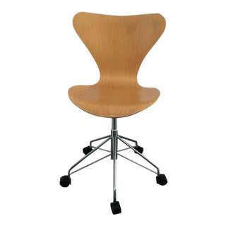 Mid-Century Modern Arne Jacobsen Fritz Hansen Series 7 Swivel Chair
