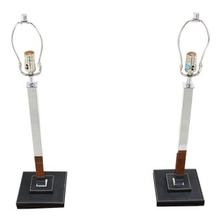 Mid-Century Modern Nessen Chrome Modern Table Lamps - a Pair For Sale
