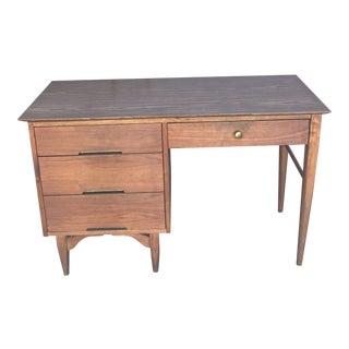 1950s Danish Modern Vega Morris Walnut Desk For Sale