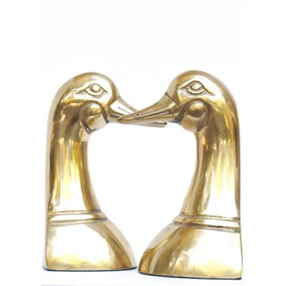 Mid Century Brass Duck Bookends - A Pair Preview