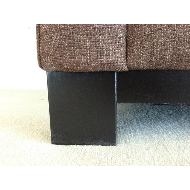 Jonathan Louis Kenton Contemporary Upholstered Armchair & Ottoman For Sale In San Francisco - Image 6 of 8