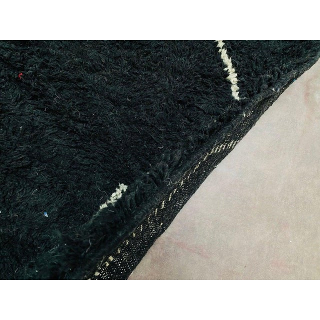 Vintage Black Beniourain Rug For Sale - Image 9 of 10