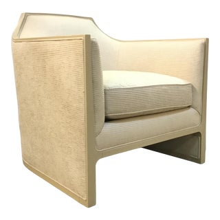 Modern Caracole Dazzling Cream Club Chair For Sale