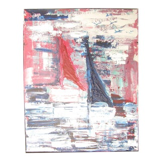 Abstract Sailboat Painting For Sale