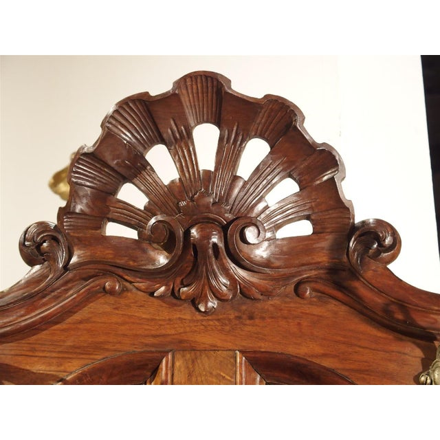 Antique French Walnut Wood Hall Rack and Umbrella Stand, Circa 1880 For Sale In Dallas - Image 6 of 11