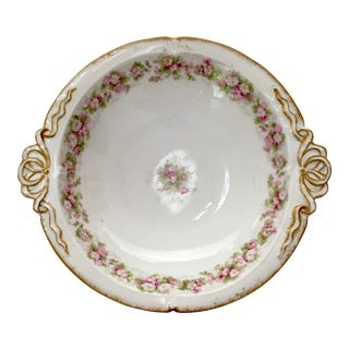 Antique Haviland & Abbot Co. Limoges Ribbon Bowl For Sale