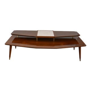 Mid Century Coffee Table Two Tier by Gordon's Inc