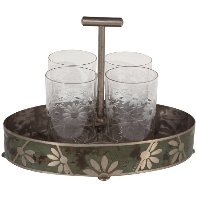 Dinanderie Cocktail Caddy For Sale - Image 10 of 10