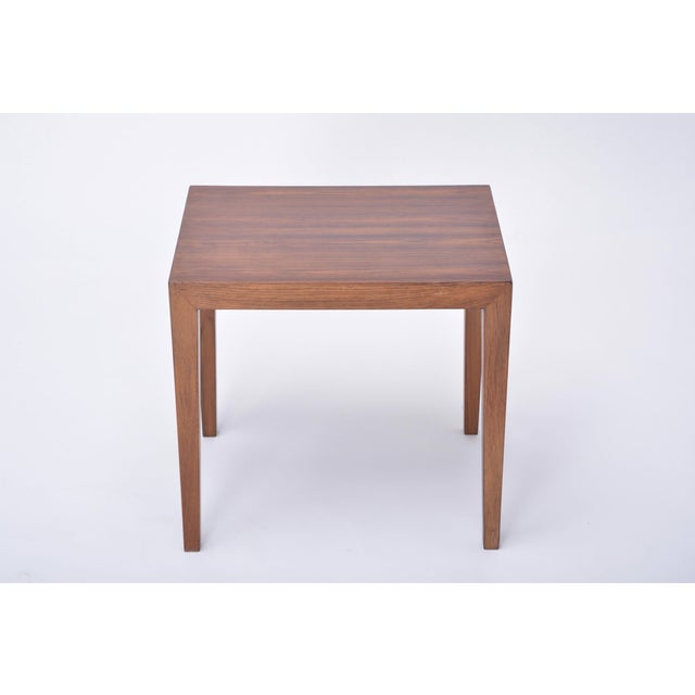 Vintage Rosewood Side Table by Severin Hansen, 1960s For Sale - Image 9 of 9