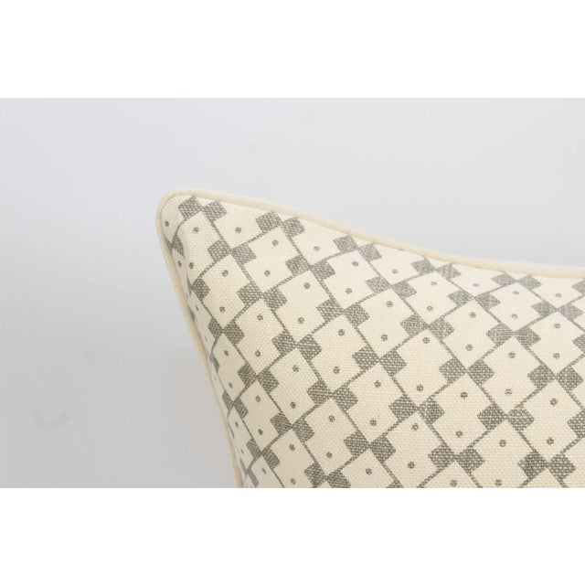 2010s Schumacher Domino Linen Muse Pillows, a Pair For Sale - Image 5 of 8