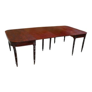 19th Century Federal Carved Mahogany Two-Part Banquet Table For Sale