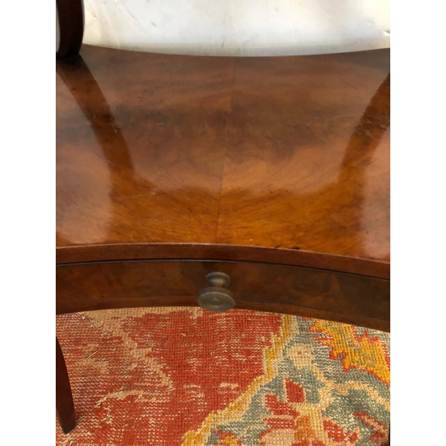 1930s Traditional Grosfeld House Crotch Mahogany 2-Tier Nightstand - a Pair For Sale - Image 12 of 13