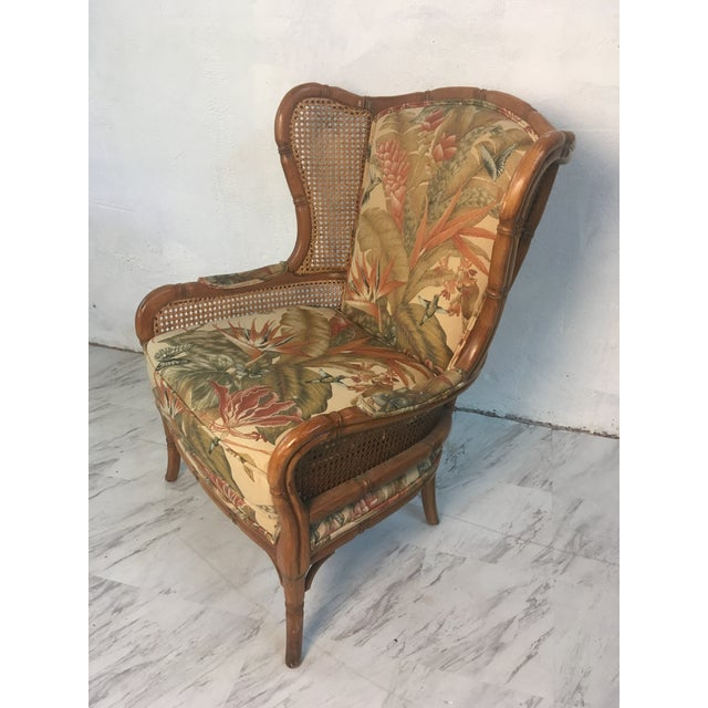 Vintage Cane Wingback For Sale - Image 9 of 9