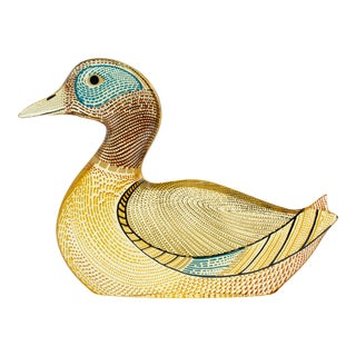 Palatnik Op Art Lucite Mallard Duck For Sale