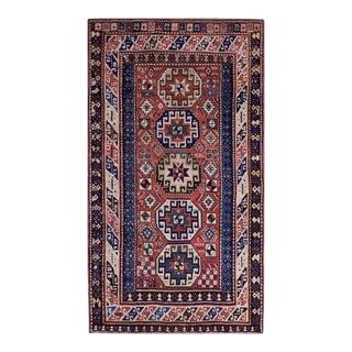 """Antique Caucasian, Kazak Rug 4'4"""" X 8'0"""" For Sale"""