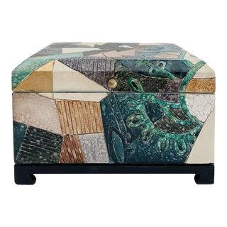 Vintage Art Deco Hand Finished Box For Sale