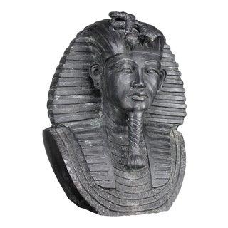 Bronze Egyptian Pharaoh Garden Bust For Sale