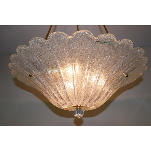 Transparent Vintage Mid-Century Modern Murano Glass Pendant Lamp For Sale - Image 8 of 13