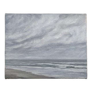 Seascape Oil on Stretched Canvas Painting For Sale