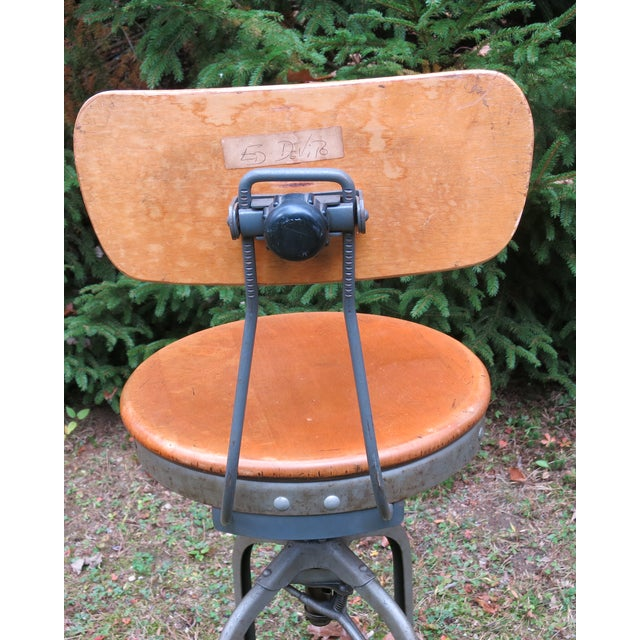 Vintage Industrial Toledo Stool For Sale In New York - Image 6 of 8