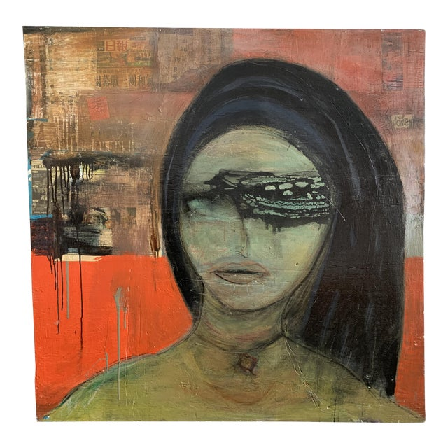 Large James Swinson Acrylic on Plywood & Plaster Painting For Sale