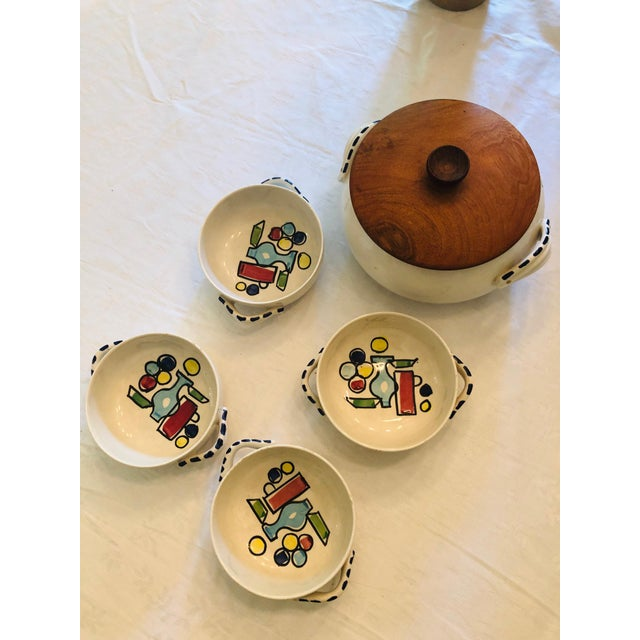 French Vintage French Style Soup Set - 5 Piece Set For Sale - Image 3 of 10