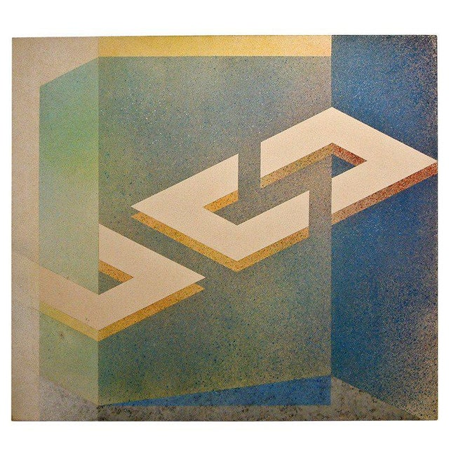 """Astrid Fitzgerald """"No. 41"""" Acrylic on Canvas 1974 - Image 6 of 6"""