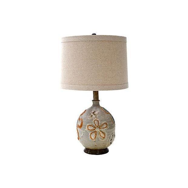 1960s Studio Art Ceramic Lamp - Image 3 of 6