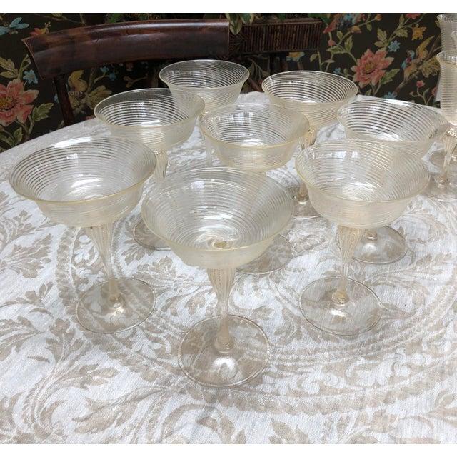 Italian Vintage Venetian Glassware/Barware - 32 Piece Set For Sale - Image 3 of 8
