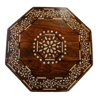 Indian Octagonal Bone Inlay Table Preview