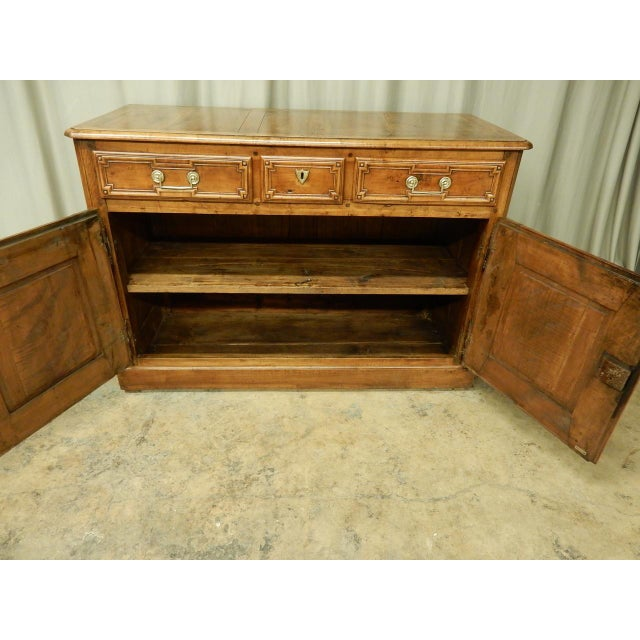 Early French Walnut 19th Century Directoire' Buffet For Sale - Image 10 of 11