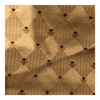 Traditional Gold and Taupe Fabric - 1.5 Yards For Sale
