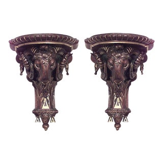 French Louis XVI Ram Head Shelves For Sale