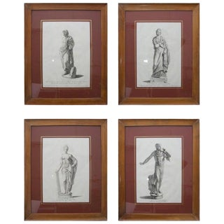 19th Century Neoclassic Engravings - Set of 4 For Sale
