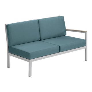 Modular Outdoor Loveseat, Vintage and Blue For Sale