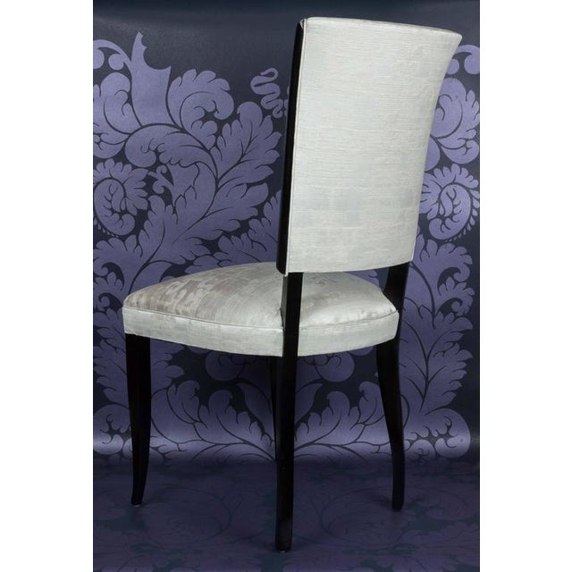Set of Eight French 1940s Dining Chairs - Image 4 of 9