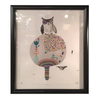 "Rebecca Raney ""One Bid Owl"" Contemporary Drawing For Sale"