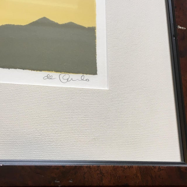 Mid 20th Century Framed Zebra Lithograph by Keith DeCarlo For Sale - Image 5 of 7