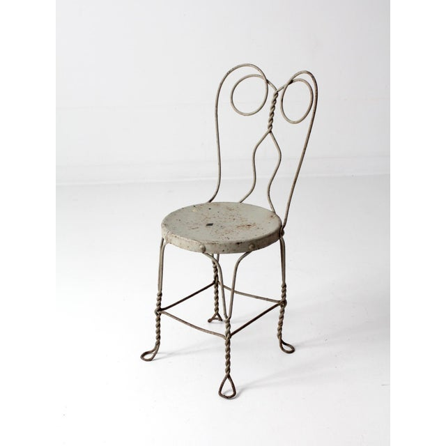 Early 20th Century Vintage Ice Cream Parlor Chair For Sale - Image 5 of 9
