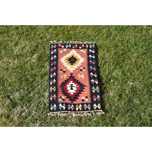 Vintage Hand Knotted Traditional Southwestern Style Anatolian Kilim Rug For Sale - Image 13 of 13