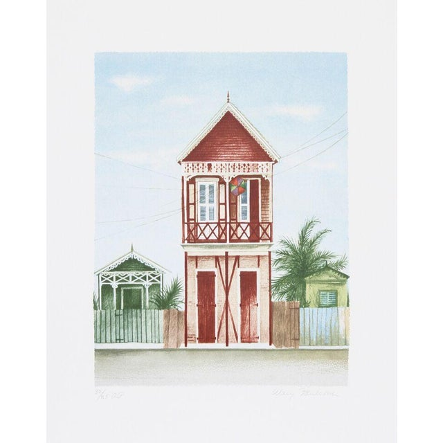 """Mary Faulconer, """"Port Au Prince,"""" Lithograph - Image 1 of 2"""