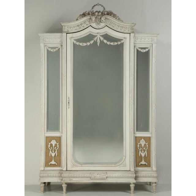 Antique French Original Painted Armoire, Circa 1900 For Sale - Image 12 of 12