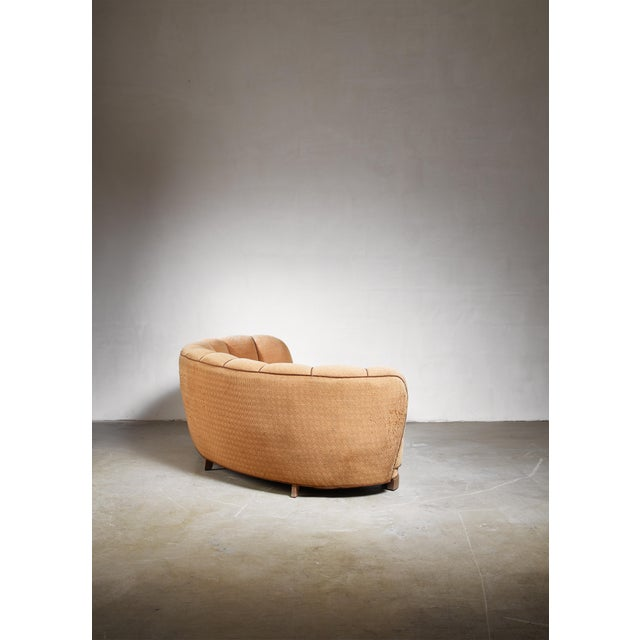 1940s Curved Danish Sofa, 1940s For Sale - Image 5 of 6