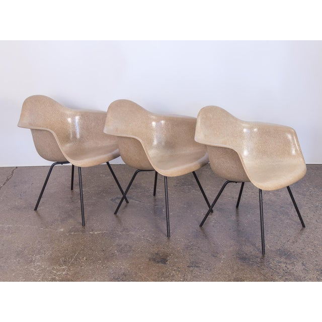 Metal Second Generation Greige Eames Armshell Chair For Sale - Image 7 of 11